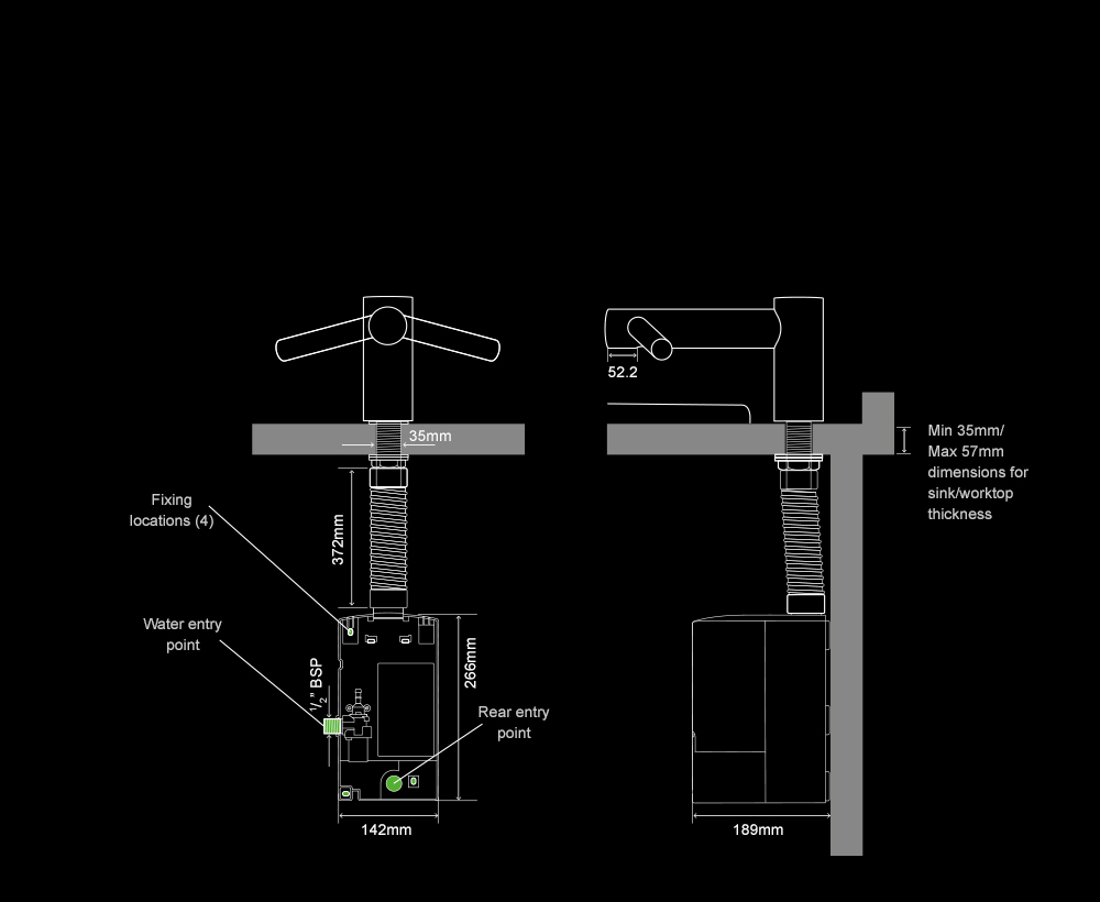 Dyson Airblade Tap Short hand dryer internal specifications