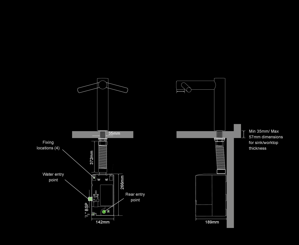 Dyson Airblade Tap Long hand dryer internal specifications