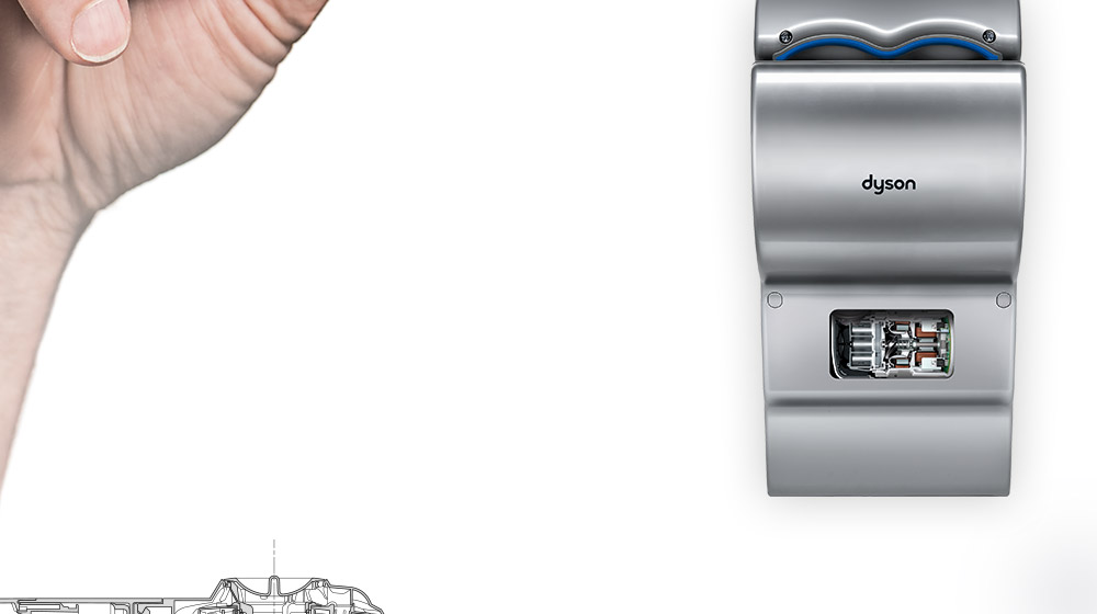 image of a Dyson Mk2 hand dryer