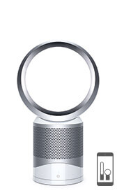 Dyson purifier fan in white colourway