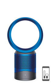 Dyson purifier fan in iron blue colourway