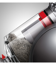 close up image of the Dyson Cinetic Big Ball, focussing on the Bin.